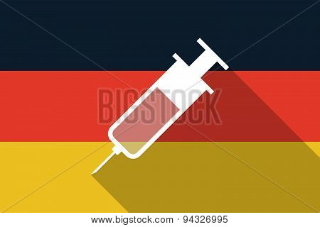 Germany  Long Shadow Flag With A Syringe
