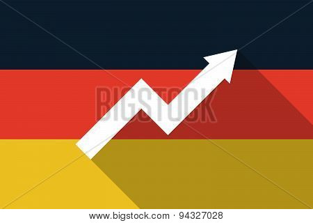 Germany  Long Shadow Flag With A Graph