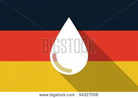 Germany  Long Shadow Flag With A Blood Drop
