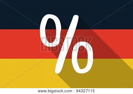 Germany  Long Shadow Flag With A Discount Sign