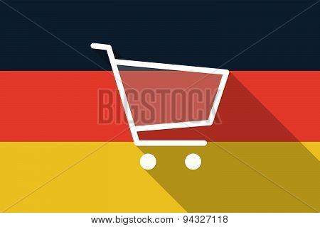 Germany  Long Shadow Flag With A Shopping Cart