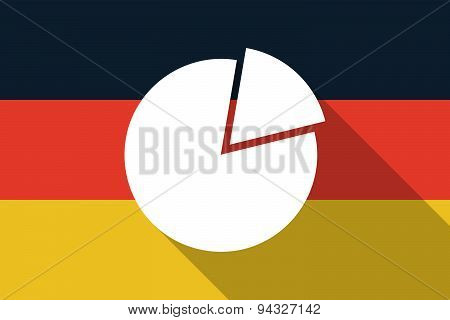 Germany  Long Shadow Flag With A Pie Chart