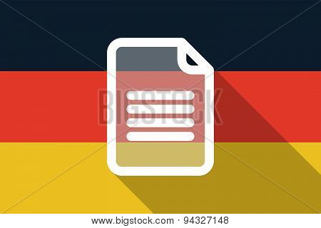 Germany  Long Shadow Flag With A Document