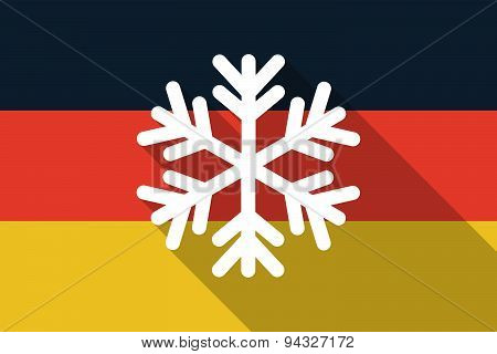 Germany  Long Shadow Flag With A Snow Flake