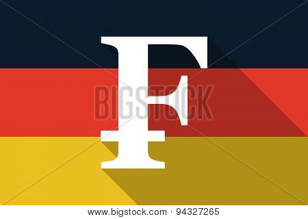 Germany  Long Shadow Flag With A Swiss Frank Sign