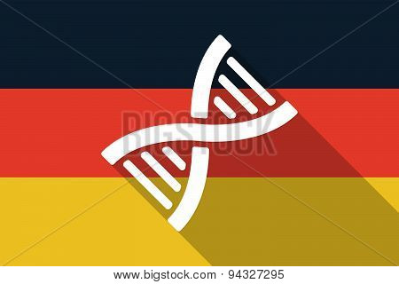 Germany  Long Shadow Flag With A Dna Sign