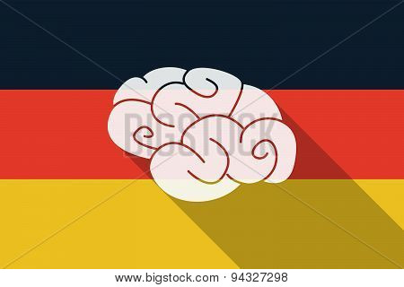 Germany Long Shadow Flag With A Brain