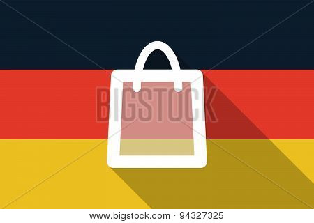 Germany Long Shadow Flag With A Shopping Bag