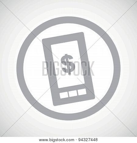 Grey dollar screen sign icon