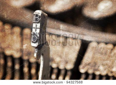 B Hammer - Old Manual Typewriter - Warm Filter