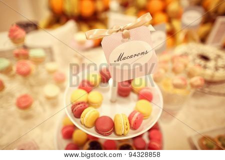 Macaroons On Plate