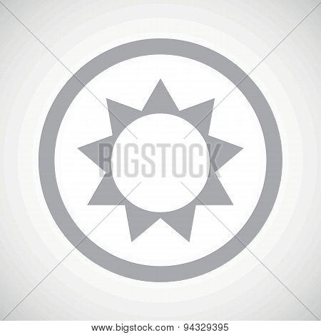 Grey sun sign icon