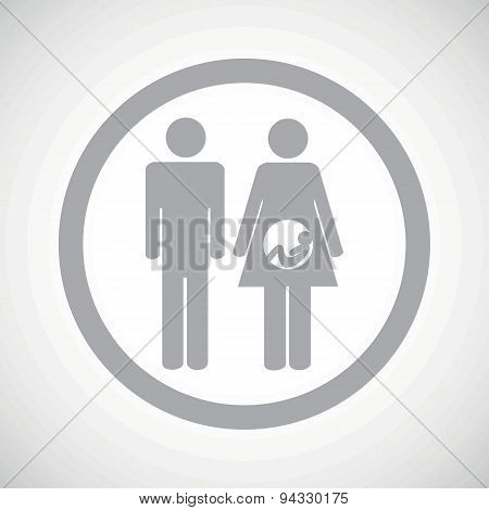 Grey young family sign icon