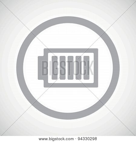 Grey charged battery sign icon