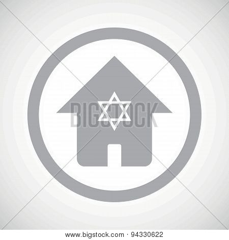 Grey jewish house sign icon