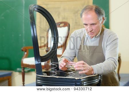 Experienced furniture repair man