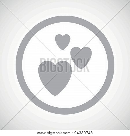 Grey love sign icon