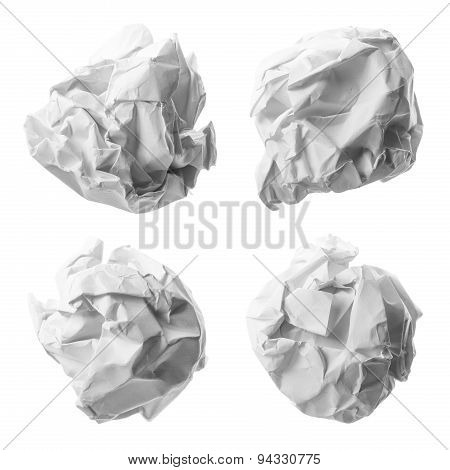Collection Of Various Paper Ball