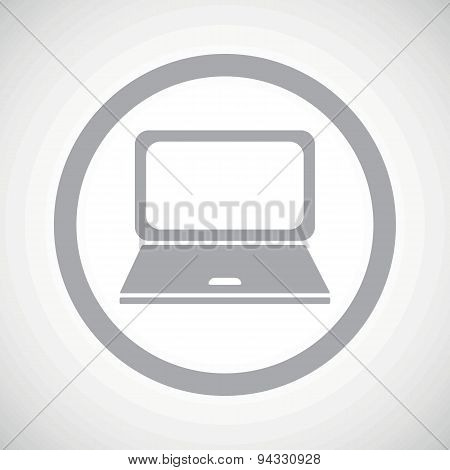 Grey laptop sign icon