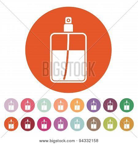 The Perfume Icon. Cologne Symbol. Flat