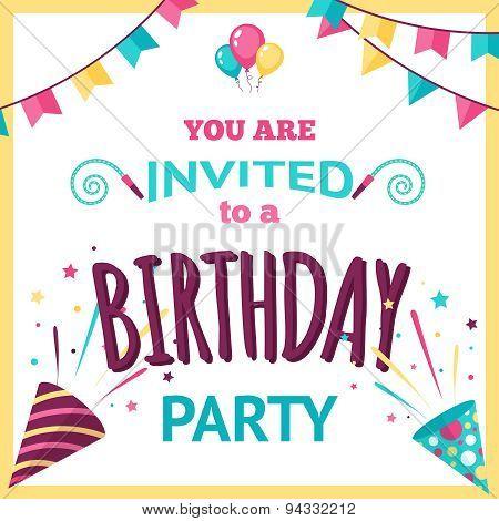 Party Invitation Illustration