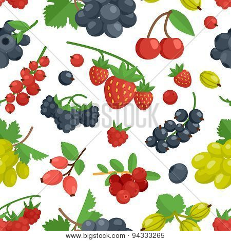 Berries Color Seamless Ornament