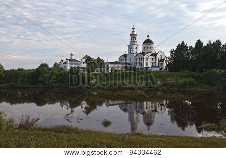 Cathedral of the Archangel Michael in the village Merkushino River Tours. Sverdlovsk region.
