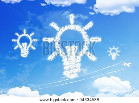 Cloud Symbol : Bulb On The Sky.