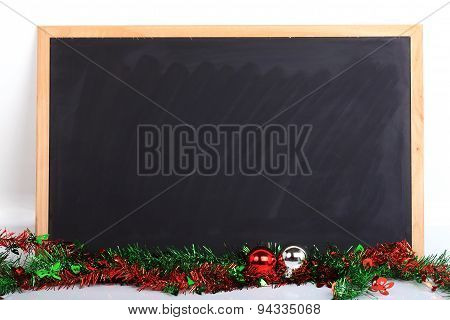 Blackboard Decorated Merry Christmas Day