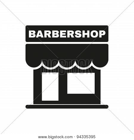 The Barbershop Building Icon. Barbershop Symbol. Flat