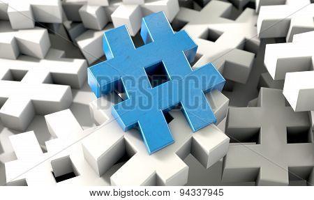 Hashtag Concept