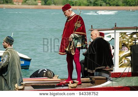 Musicians In Traditional Costume, Venice
