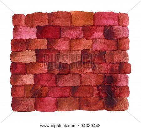 Brick Wall Made Watercolor