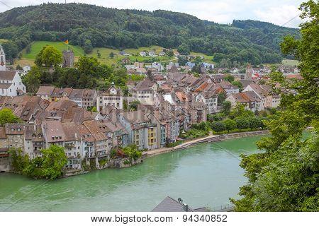 Border town Laufenburg Switzerland