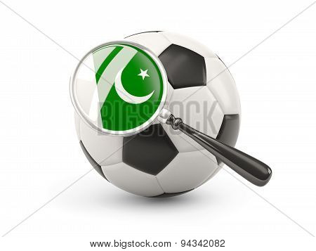 Football With Magnified Flag Of Pakistan