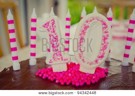10th Birthday Cake decoration