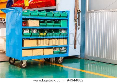 Spare Part And Tools Cart