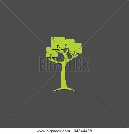 Tree vector logo design template. Garden logotype creative concept.
