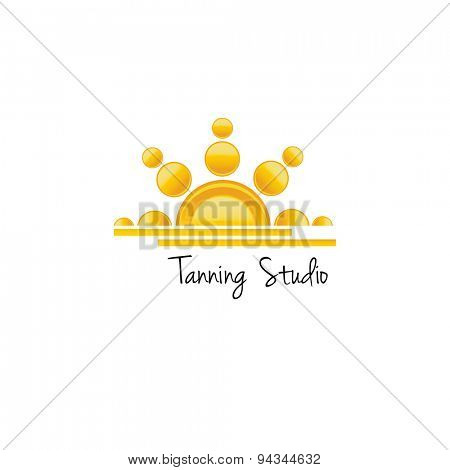 Tanning studio logo concept. Vector illustration