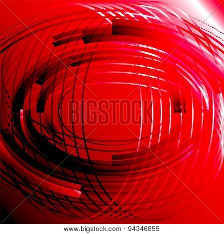 Abstract business technology red circle line