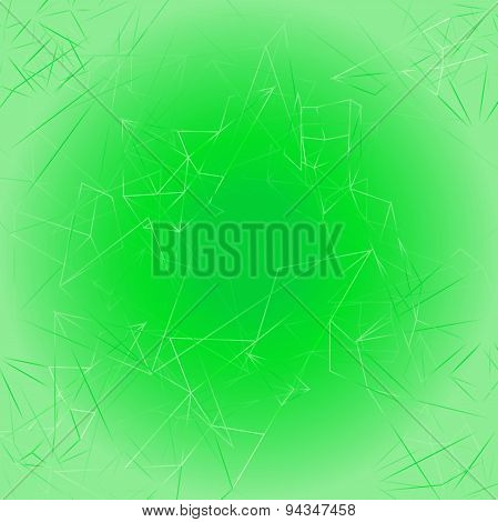 Abstract triangle soft green background