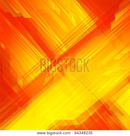 High Tech Grid Lines orange yellow texture Background