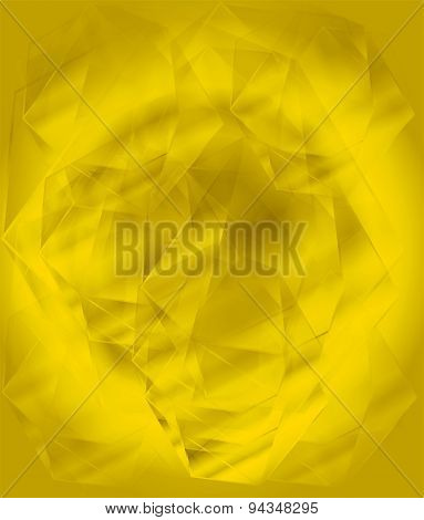 Luxury yellow crystal face background