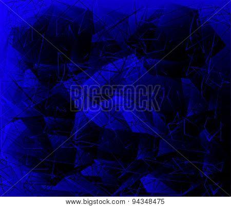Polygonal Abstract geometrical dark blue background