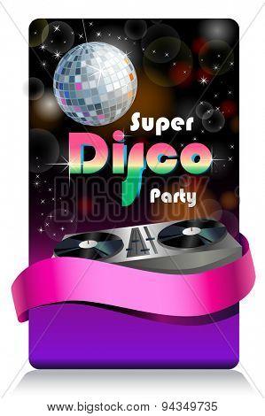 Stylish disco banner Music Concept, Retro Poster Template.