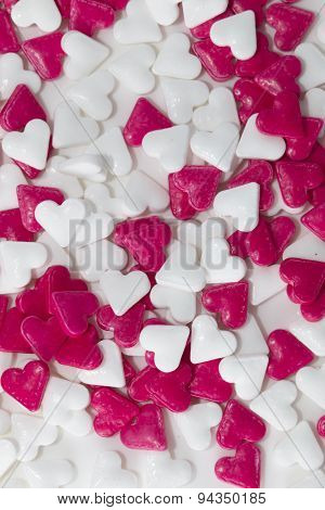 Red And White Valentine Hearts