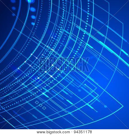 Technology Abstract Background Grow Bright Light Element 008