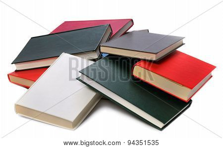 Pile colored of books