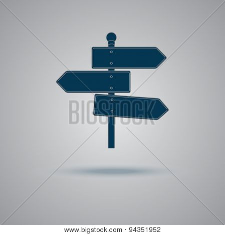 Blank, Street, sign