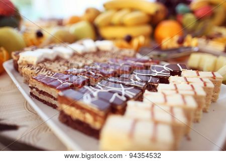 Mix Of Delicious Small Cakes
